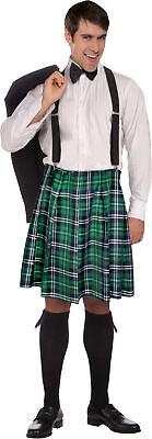Naughty Adult Men's Costume Colorful Plaid Kilt Halloween Forum Novelties Adult Green Plaid Kilt
