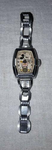 1937 INGERSOLL MICKEY MOUSE WRISTWATCH WATCH WALT DISNEY ENTERPRISES FOR PARTS