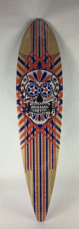 "Tracker Trucks Skull Mill Longboard 9.5 x 40"" Skateboard Deck Pintail"