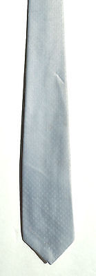 Men's New Neck Tie, Skinny, Short Silver design by Reed St.