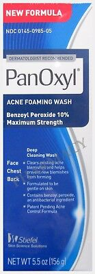 10% PanOxyl Benzoyl Peroxide Acne Wash 10% 5.5 oz  NEW FORMULATION