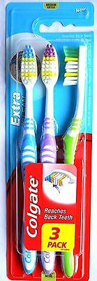 Colgate 3 in Pack Extra Clean Medium Toothbrushes