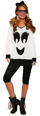Ghostie Girl Cute Ghost Boo Women's Halloween Casual Costume Shirt & Legging STD ()