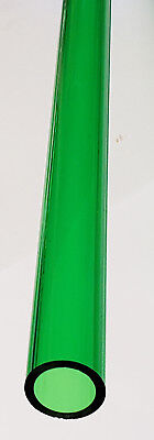 1 Od X 34 Id Diameter Clear Green Acrylic Plexiglass Lucite Tube 24 Long