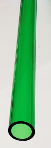 "1"" OD x 3/4"" ID DIAMETER 36"" INCH LONG CLEAR GREEN ACRYLIC PLEXIGLASS TUBE 3FT"