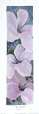 HAZEL BURROWS Close Encounters floral art print NEW SIZE:48cm x 13cm  RARE