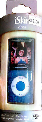Iskin Nano (iSkin Vibes Apple iPod Nano 4G Flexible Clear Case -Blue Orbitz Pattern)