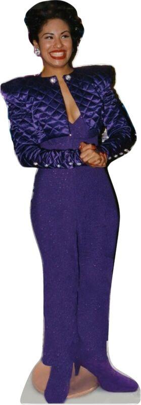 "Selena Q - Signature Purple Outfit- 65"" Tall Life Size Cardboard Cutout Standee"