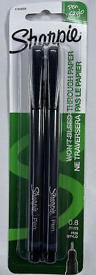 Sharpie Pen Fine Point Black 2 Count