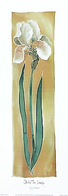 HAZEL BURROWS Only Lonely Contemporary IRISES art SIZE:48cm x 13cm  RARE