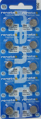 Renata 394 Watch Batteries SR936SW 10 Pack