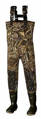 New Men 3mm MAX-5 Camo Fishing/Hunting Neoprene Wader Lug Boots Size 11 Stout