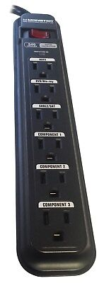 Monster Power MP JP 600 Advanced Home Theater Surge Protector w/ 6 (Monster Home Theater)
