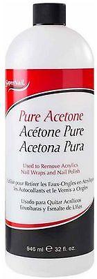 Super Nail Pure Acetone 32 oz
