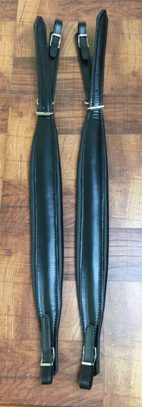 Coreas Para Acordion. Leather Shoulder Straps For Accordion. #AS-1 Black