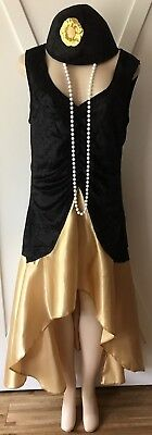 Womens Plus Flapper Costume New 1X Gatsby XL 14 16 Roaring 20s Nwt - Flapper Costume For Women