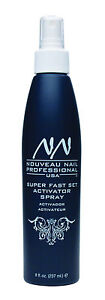 Nouveau Nail Activator Spray 8oz  237ml  resin fibreglass silk quick dip