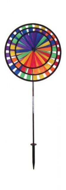 In The Breeze Triple Wheel Rainbow Garden Spinner, New, Free Shipping