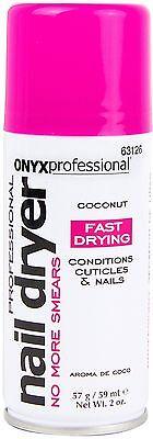 Onyx Professional Island Coconut Scented Spray On Nail Polish Dryer 2oz