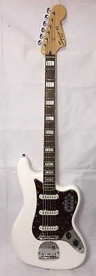 Fender Vintage Modified Bass VI Electric Bass Guitar, White Finish