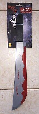 FRIDAY 13TH JASON VOORHEES BLOODY MACHETE KNIFE COSTUME WEAPON PROP