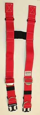 Firefighter Suspenders Red Padded H Style Inno Tex Rwp-s Turnout Gear Nos