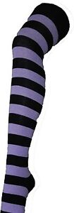 LADIES LONG OVER THE KNEE SOCKS STRIPEY STRIPED SOCKS