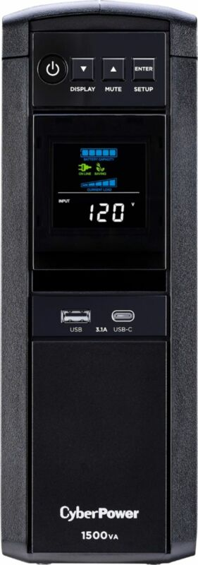 CyberPower - 1500VA Sine Wave Battery Back-Up System - Black
