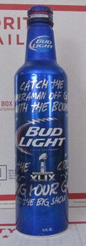 Beer Bud Light NFL SUPER BOWL 49 XLIX 502491 Aluminum Empty Bottle football 16oz