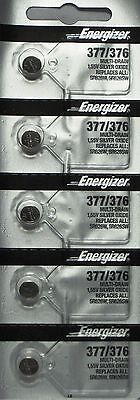 ENERGIZER 377/376 SR626SW SR626W (5 Piece) BATTERIES NEW SEALED Authorize Seller