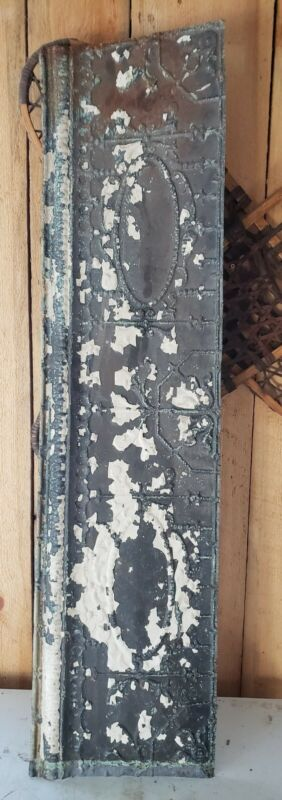 """48"""" x 12"""" Flat Molding Antique Ceiling Tin Vintage Reclaimed Salvage Craft"""