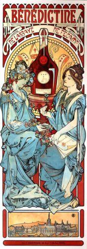 Medde Theater 1898 Alphonse Mucha Art Nouveau Poster Canvas Print 14x40