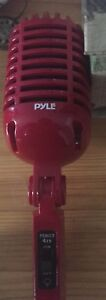 Pyle red old style vocal microphone