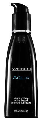 Wicked Aqua - Fragrance Free Lubricant - 8.5 fl oz Water Based (Aqua Fragrance)