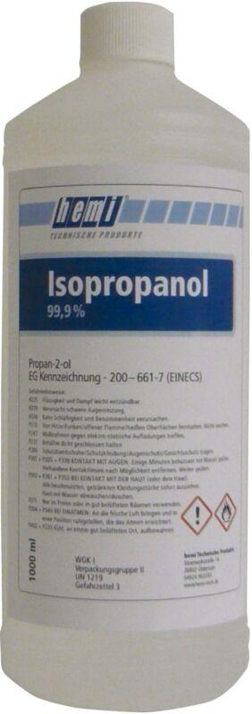 1 Liter 99,9% ISOPROPANOL ISOPROPYLALKOHOL CLEANER