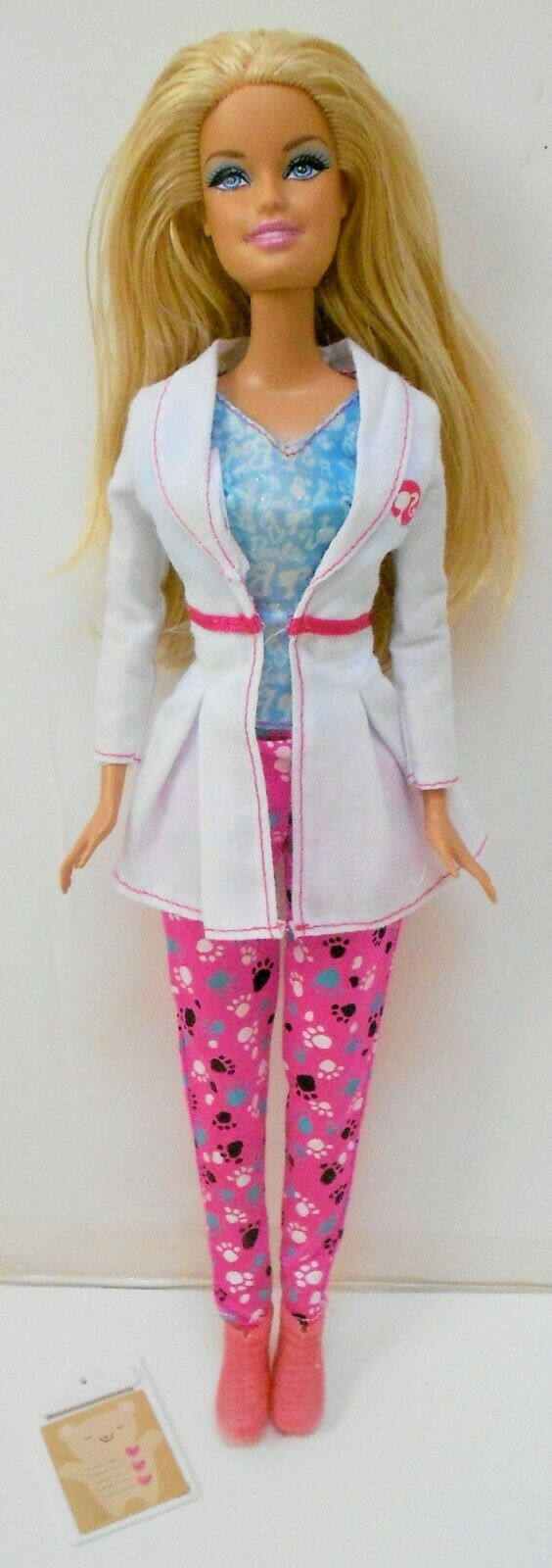 CUTE Mattel 1998 BARBIE PET VET DOCTOR DOLL W/LAB COAT PANTS SHOES CLIP BOARD - $12.99