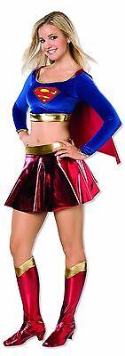 New Deluxe Girls Teen Supergirl Costume Teen Dress Size 2- 6