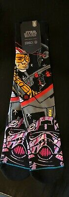 BNWT Stance x Star Wars Crew Socks Socks Black Warped Pilot