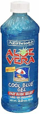 Fruit of the Earth Aloe Vera Cool Blue Gel 20 Oz (pack Of 9)