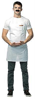 Erwachsene BOB'S Burgers Schürze und Schnurrbart Cartoon Kostüm GC3880 ()