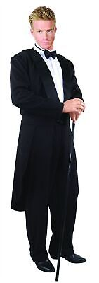 Black Tuxedo Adult Men's Tailcoat Cocktail Butler Suit Formalities Costume SM-XL