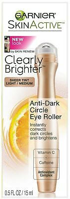 Roller Light - Garnier SkinActive Clearly Brighter Tinted Eye Roller, Light/Medium 0.5 oz