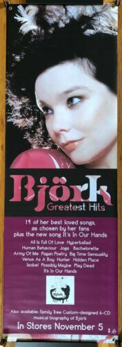 Bjork Greatest Hits ULTRA RARE promo vinyl banner