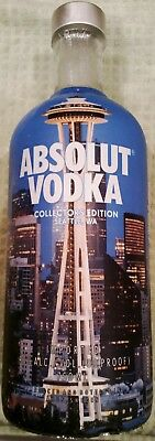 Absolut Vodka Seattle WA Space Needle Collectors Edition Bottle (no Alcohol)