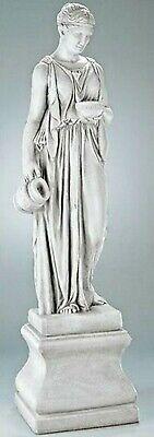 """GREEK GODDESS HEBE was $8,000! Life-Size CAST STONE GARDEN SCULPTURE 81"""" Tall"""