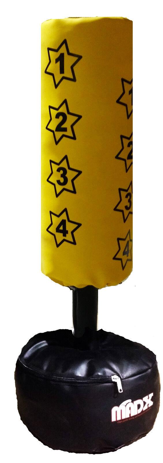 madx enfants junior boxe sur pied sac de frappe ensemble autonome sac gants ebay. Black Bedroom Furniture Sets. Home Design Ideas