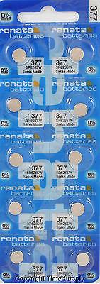 15 pc 377 Renata Watch Batteries SR626SW FREE SHIP 0% MERCURY