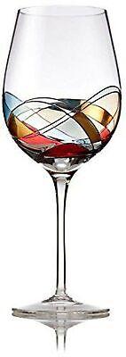 Bezrat Red Wine Glasses, Unique Hand Painted Wine Glasses, Drinkware Essentia...