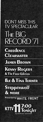 1971 Tv Music Ad Big Record 71 Led Zepplin Steppenwolf Creedence Clearwater
