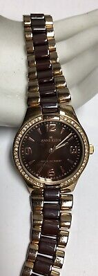 ANNE KLEIN Two Toned Brown Watch